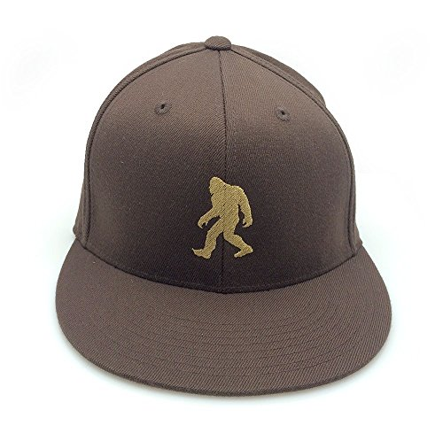 Men's Hat - Bigfoot Silhouette - Men's Fitted Embroidered Hat