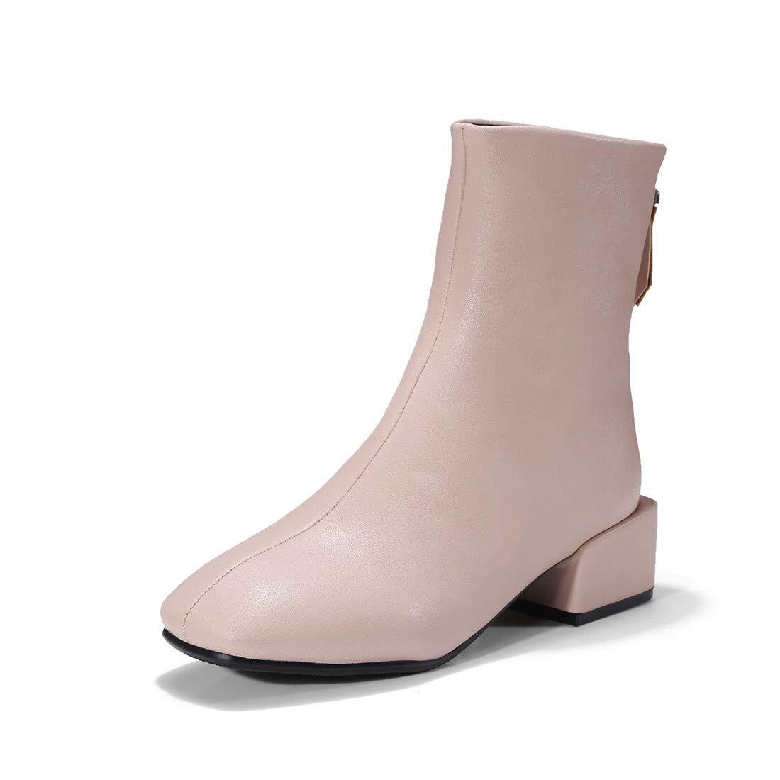 Stiefel-DEDE Stiefel  Europa und Amerika eckige Damen mit kurzen kurzen kurzen Stiefelnquadratischer Kopf mit Stiefeletten ed1b49
