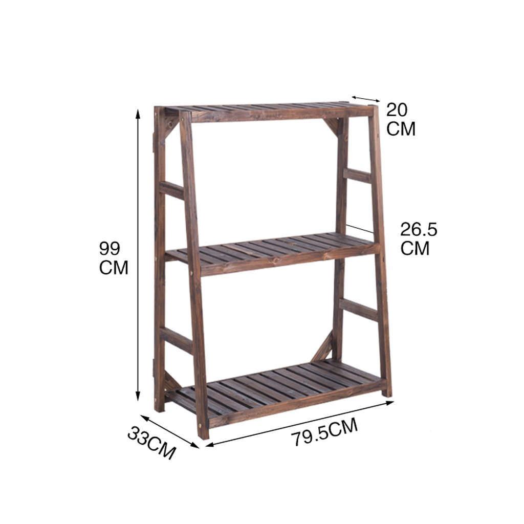CXM-Flower Stand ALUS- Simple Modern Indoor Balcony Solid Wood Multilayer Flower Racks (Size : B)