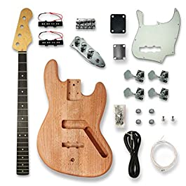 DIY Electric Guitar Kits For JASS Style bass Guitar.Okoume Body