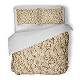 SanChic Duvet Cover Set Cinema Popcorn Corn Crisp Food Movie Decorative Bedding Set with Pillow Sham Twin Size