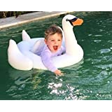 UClever White Swan Baby Float Inflatable Swimming Ring Pool Toys for the Age 6-36 Months