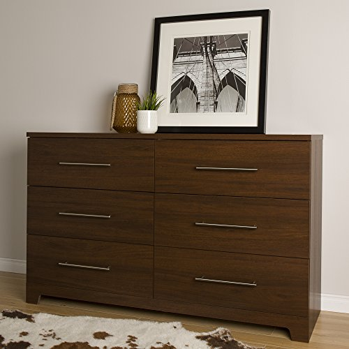 51gTLlYS0mL - South Shore Primo 6-Drawer Double Dresser, Brown Walnut