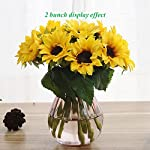 Artfen-Artificial-Sunflowers-6-Pcs-Fake-Sunflowers-Preserved-Flower-Bouquet-Bride-Bridesmaid-Holding-Flowers-Artificial-Flowers-for-Home-Hotel-Office-Wedding-Party-Garden-Craft-Art-Decor