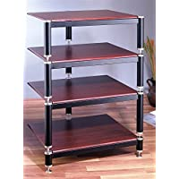 BL Series Audio Rack (Black w Cherry Shelf)