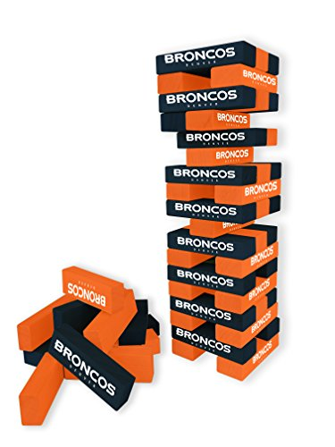 Wild Sports NFL Denver Broncos Table Top Stackers Game