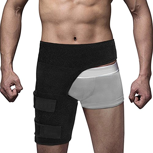 Dsstyle Compression Wrap for Groin Hip Thigh Hamstring, Ajustable Waist Support Brace with Leg Sleeve, Unisex Sports Protection Strap by Dsstyle