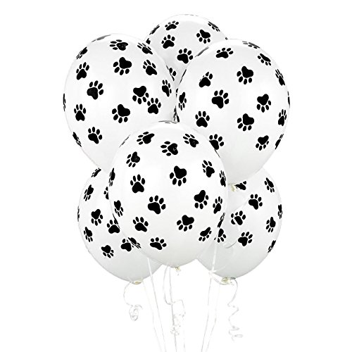 BirthdayExpress Paw Print Balloons (6 Count) Child]()