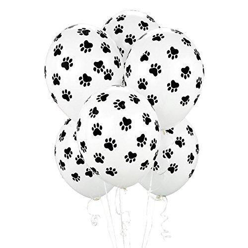 BirthdayExpress Paw Print Balloons (6 Count) Child ()