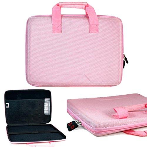 NuVur 13 inch Universal Hard Case Shell Briefcase fits Toshiba Portege Z30-ASMBNX4, Z30-AST3NX1, Z30-AST3NX2, Z30-B1310, Z30-B1320, Z30-BBT1300, Z30-BSMBN22, Z835-P360, Z935-P300|Pink