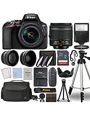 $589 » Nikon D3500 Digital SLR Camera Body with Nikon Nikkor 18-55mm AF-P DX f/3.5-5.6G VR Lens DSLR Kit Bundled with Complete Accessory Bundle + 64GB + Flash + Case & More - International Model