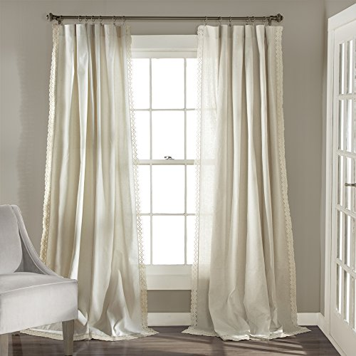 Lush Decor Rosalie Window Curtains Panel Set for Living