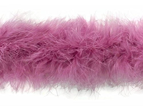 [Marabou Feathers, 2 Yard Dusty Pink Marabou Feather Boa - 25 Gram] (Costumes By Dusty)