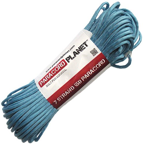 Paracord Planet Mil-Spec Commercial Grade 550lb Type III Nylon Paracord Light Blue