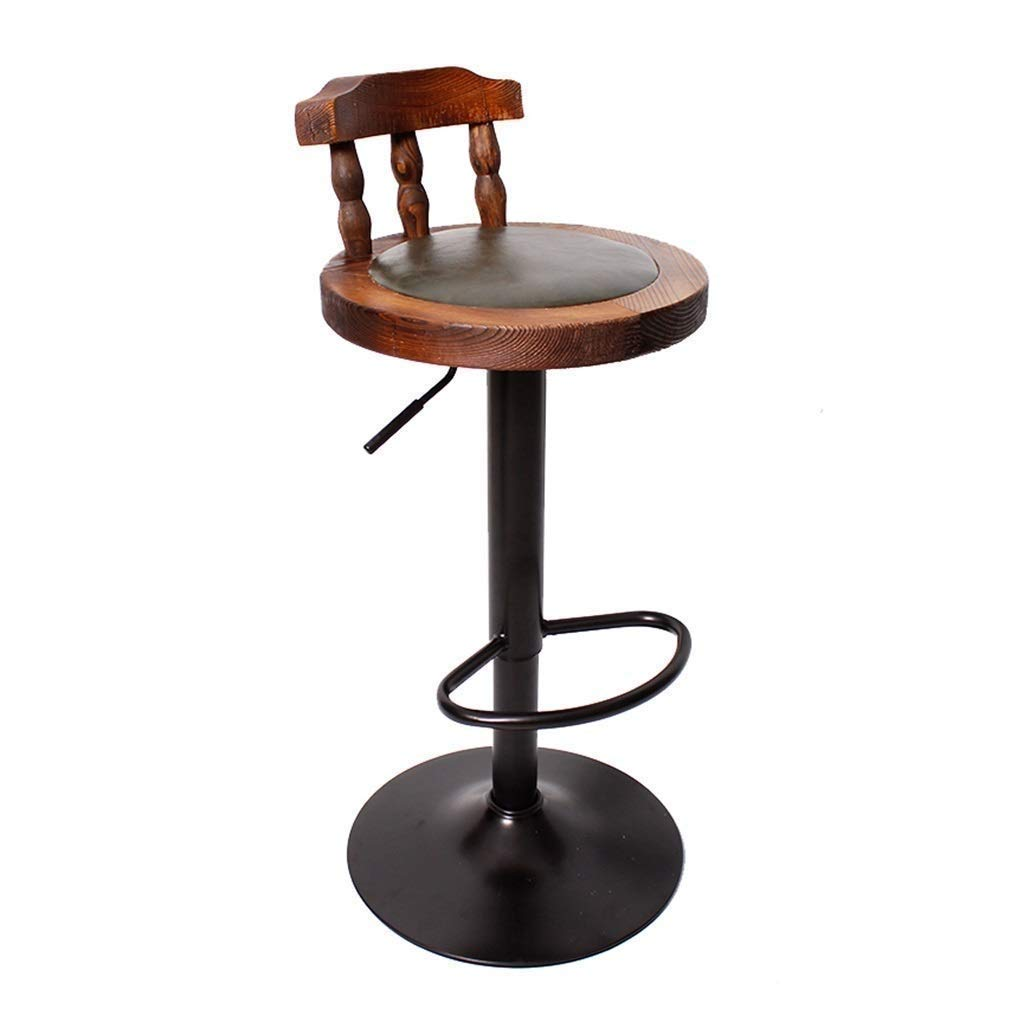 Green Retro redating Lift Bar Chair Breakfast Stool for Family Front Desk Coffee Shop Kitchen Multi color Optional (color   Brown)