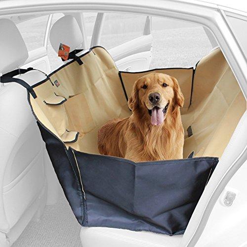 Ondoing Hund Autoschondecke Hundeautositz mit Seitenschutz Doppelt Dick Wasserdicht für Haustier 150*130*30cm Beige