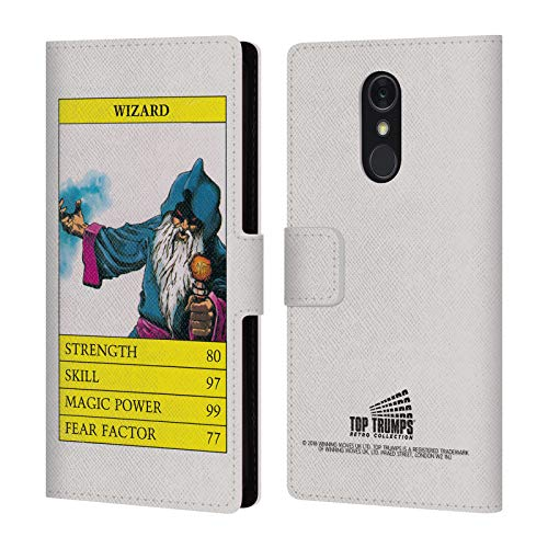 Official Top Trumps Wizard Fantasy Retro Leather Book Wallet Case Cover for LG Q Stylus/Q Stylo 4