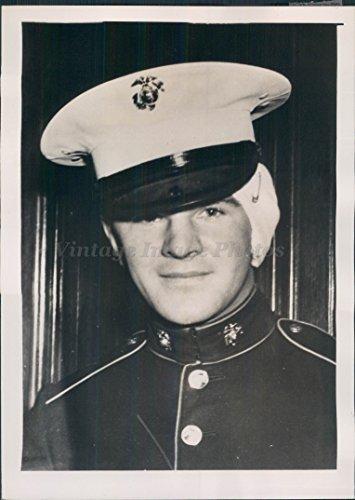 1940 Marine Edward Boyd Marine Los Angeles CA Court Testify Portrait WW2 Photo
