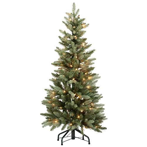 Holiday PeakTM 4' Pre-Lit Blue Spruce Tree, One Size Fits All All, Green, White