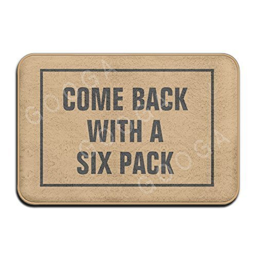 (Come Back with A Six Pack Mat Super Absorbent Anti-Slip Mat Indoor/Outdoor Decor Rug Doormat 15.7x23.6 Inch Home)
