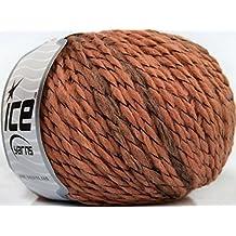 Lot of 8 Skeins ICE YARNS Assurdo Wool Copper Camel