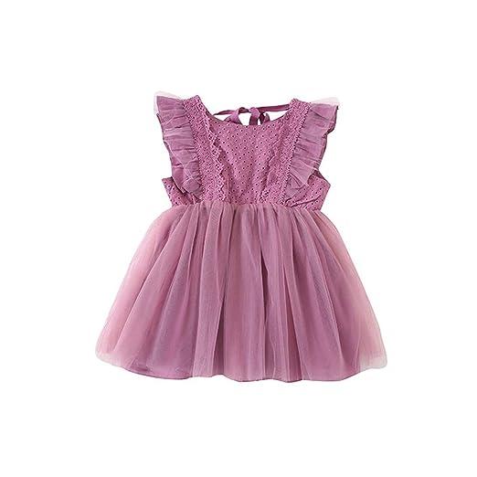 FHYER Vestido de la Falda de la Ropa de bebé niña, los niños Traje ...