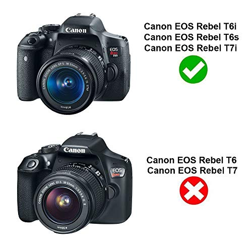 EOS Kiss X8i . EOS 750D  760D  800D  77D EOS 8000D Cameras Fully Decoded Replace LP-E17 Battery for Canon Rebel T6i  T6s  SL2  T7i TKDY ACK-E18 AC Power Adapter Charger DR-E18 DC Coupler Kit