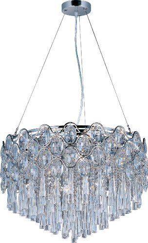 Maxim 39925BCPC Jewel 20-Light Pendant, Polished Chrome Finish, Beveled Crystal Glass, G9 Xenon Xenon Bulb, 100W Max, Wet Safety Rating, Standard Dimmable, Glass Shade Material, 1150 Rated Lumens (Contemporary Beveled Glass)