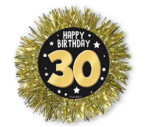 COCCARDA GOLD 30 AÑOS - Diám. 12 cm - Accesorios para fiesta ...