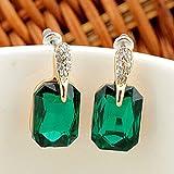 Sumanee Elegant Women Earrings 18k Gold Plated Rhinestone Crystal Stud Wedding Jewelry