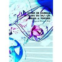 Cahier de Musique 48 pages 21 x 29,7 cm Seyes & Portees: Interieur Seyes Grands Carreaux et Portees de Musique - Couverture Brillante Design 7