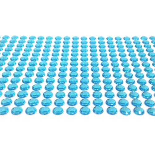 Wrapables A65405c 500-Piece Adhesive Rhinestone Crystal Diamond Stickers, 6mm, Light Blue]()