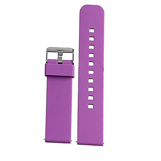 Amazon.com: Watch Band/Strap for Pebble Time Smartwatch Band Replacement Accessories with Metal Clasps Watch Strap/Wristband Silicone (Purple): Cell Phones ...