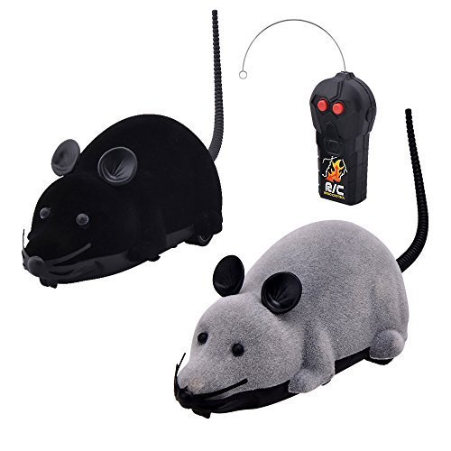 Eugreat Funny Wireless Remote Control  Mouse Toy, Black and Gray  (2 Pcs)