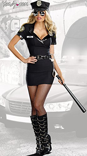 Dreamgirl Women's Dirty Cop Officer Anita Bribe Costume,