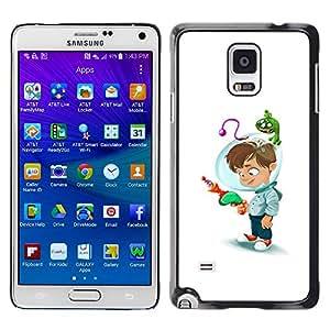 iKiki Tech / Estuche rígido - Kid Helmet Laser Gun Mothers Child - Samsung Galaxy Note 4 SM-N910F SM-N910K SM-N910C SM-N910W8 SM-N910U SM-N910