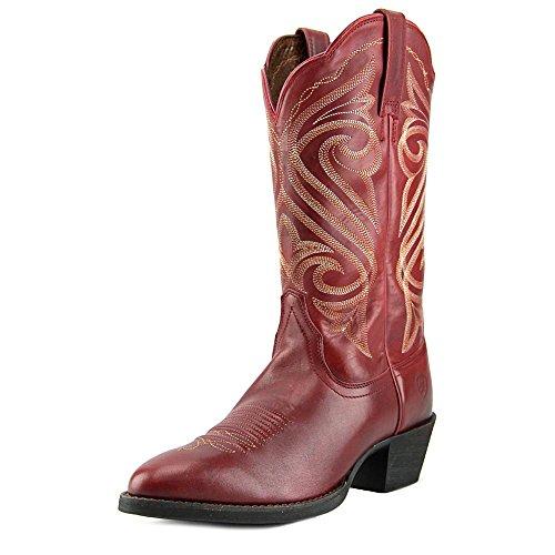Ariat Womens Round Up R Toe Western Cowboy Boot Warrior Red