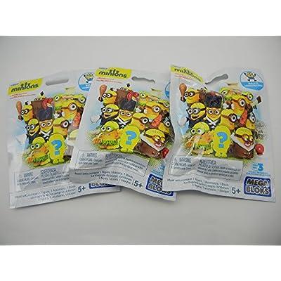 Mega Bloks Minion Mini Figure Blind Pack (3 Pack): Toys & Games