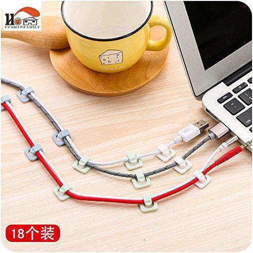 18pcs/lot Practical plastic desktop winder cable organizer cable Home office computer headphone bobbin wires holder