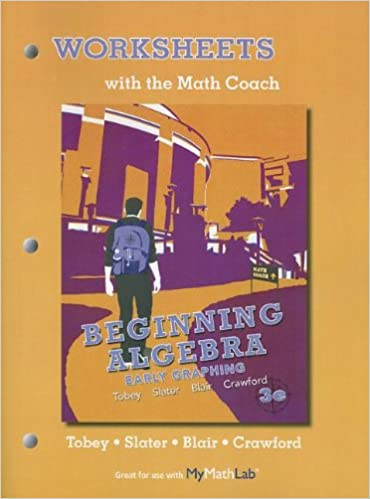 Counting Number worksheets math picture worksheets : Worksheets with the Math Coach for Beginning Algebra: Early ...