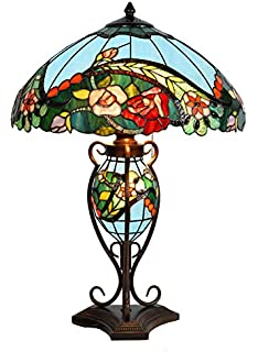 Paros 12inch dragonfly tiffany table lamp amazon lighting tiffany style stained glass table lamp aloadofball Images