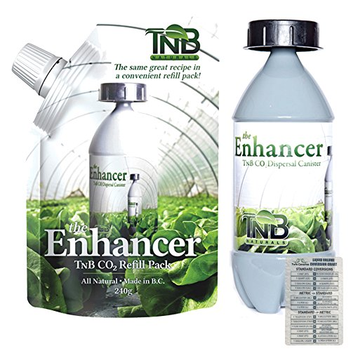 2 Pack TnB Naturals Bundle: The Enhancer Co2 Refill Pack & Dispersal Canister - 240g + Twin Canaries Chart (Plant Natural Co2)