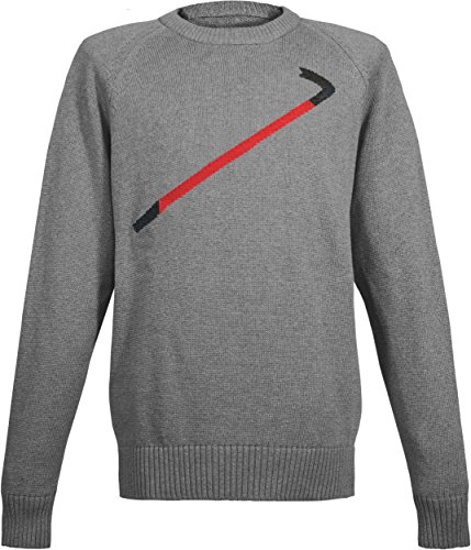 Musterbrand Half-Life Strick Pullover Herren Crowbar Sweatshirt Grau