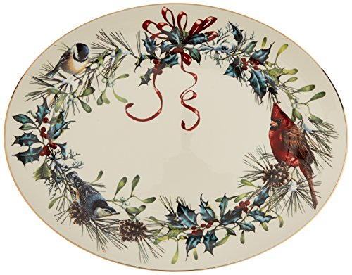 Lenox Winter Greetings 16'' Oval Platter,Ivory, Gold by Lenox (Image #3)