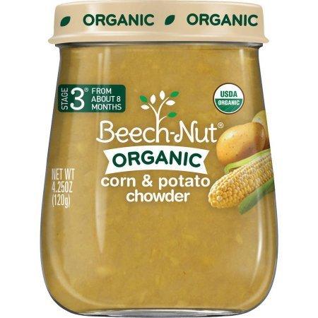 Beech-Nut Organic Corn & Potato Chowder Baby Food, 4.25 oz, (Pack of 10)