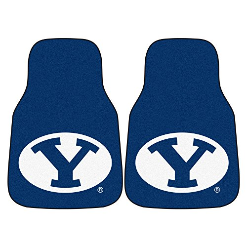 (FANMATS NCAA Brigham Young University Cougars Nylon Face Carpet Car Mat)