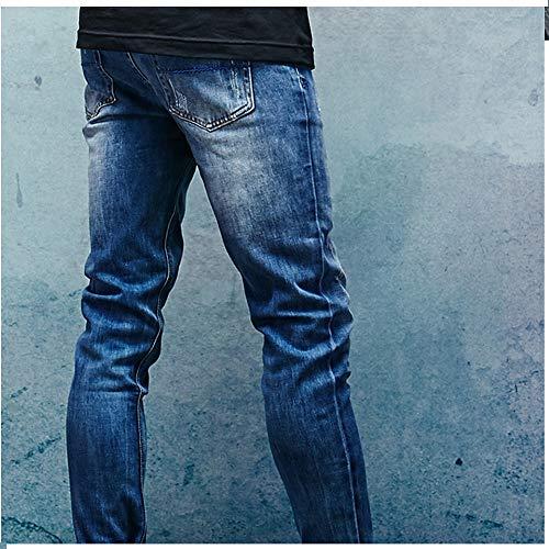 Sólido Hombre Leoconfiance Pantalones Pantalonesvaqueros 36 Para Mezclilla size Hombres De Color Eu Rectos Jeans 8SxBFfqxpw