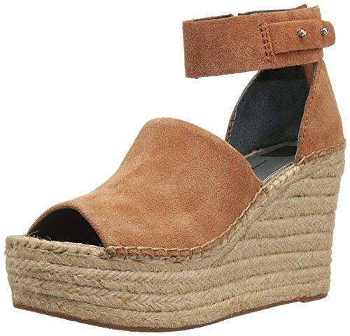 - Dolce Vita Women's Straw Wedge Sandal, Dark Saddle Suede, 8.5 M US