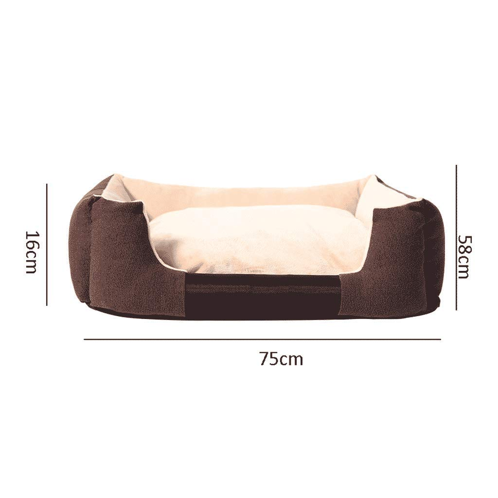 Large golden Retriever Kennel Four Seasons Warm Large Medium And Small Dogs Detachable Dog Bed Dog Mat Cat Nest Pet Supplies WHLONG (Size   L)