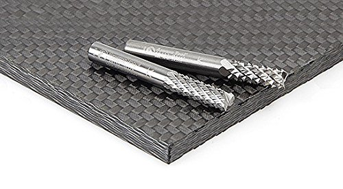 variant image of Amana Tool 46099 End Mill Point Diamond Pattern, Composite Cutting 1/4 Dia x 3/4 Cut Height x 1/4 Shank x 2 Inch Long Ultra-Fine Router Bit